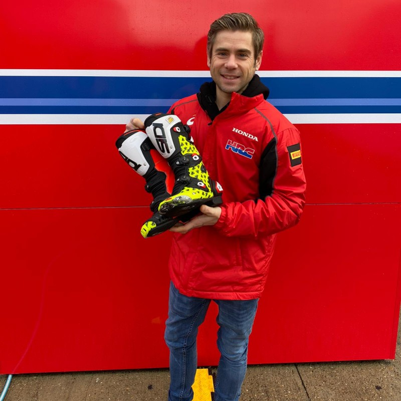 Sidi Racing Boots Worn and Signed by Alvaro Bautista