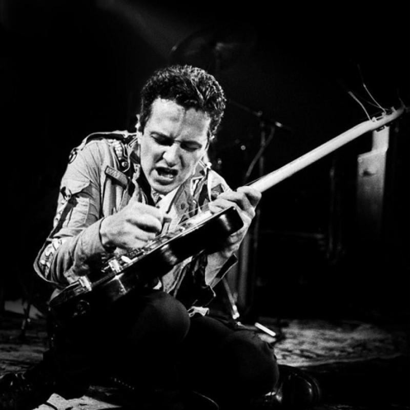 Joe Strummer from The Clash's Fender Campfire Guitar