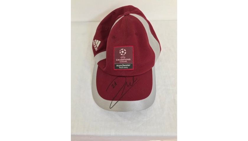Official Cap UCL Final 2003 - Signed by Andrea Pirlo