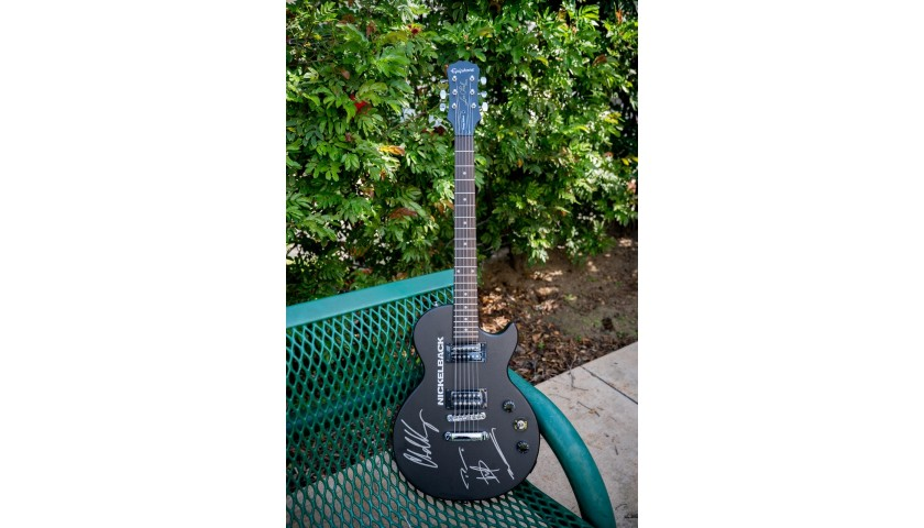 Nickelback Autographed Epiphone Guitar