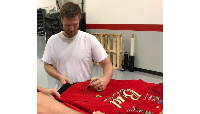 Dale Earnhardt Jr. Signed Budweiser Chase Authentic Driver's Suit Jacket