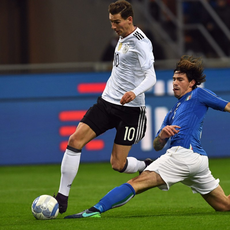 Romagnoli Match issued/worn Shirt, Italy-Germany 15/11/2016