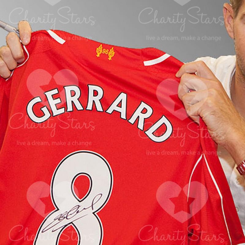 Gerrard Liverpool 14/15 official signed shirt