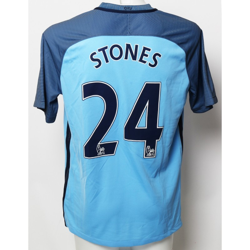 John Stones Manchester City FC Worn Shirt and Shorts from Season 2016|17