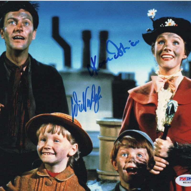 """""""Mary Poppins"""" - Dick Van Dyke and Karen Dotrice Signed Photograph"""