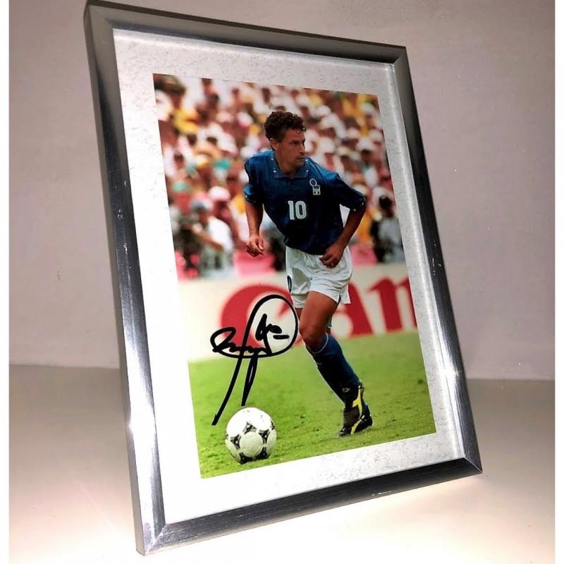 Roberto Baggio Signed Photograph