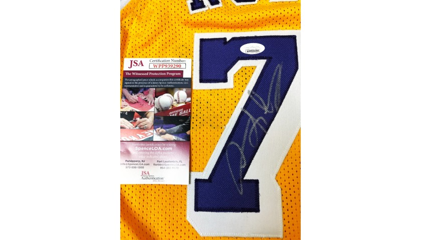 Dennis Rodman Hand Signed Lakers Jersey