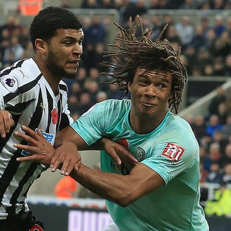 Ake's AFC Bournemouth Worn and Signed Poppy Shirt