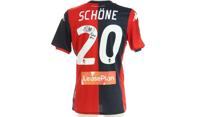 Schone's Genoa Match-Issued Signed Shirt, 2019/20