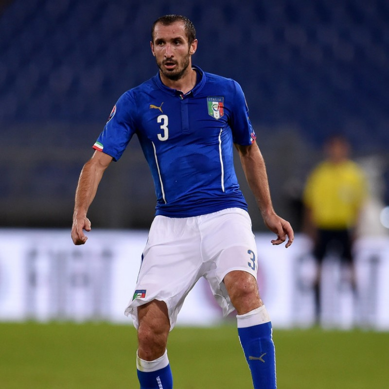 Chiellini's Italy Match Shirt, Euro 2016