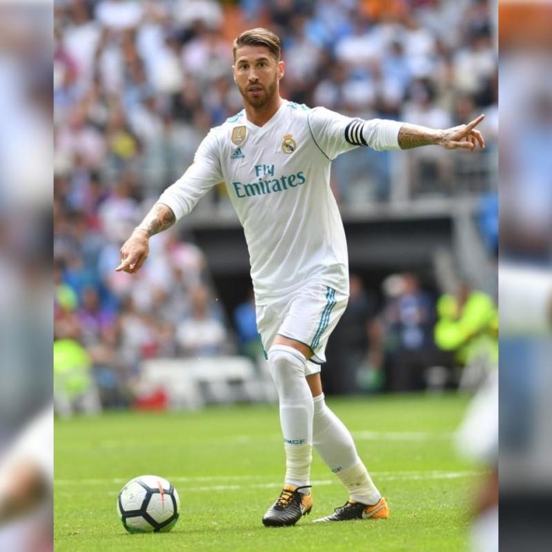 Sergio Ramos' Nike Tiempo Signed Boots