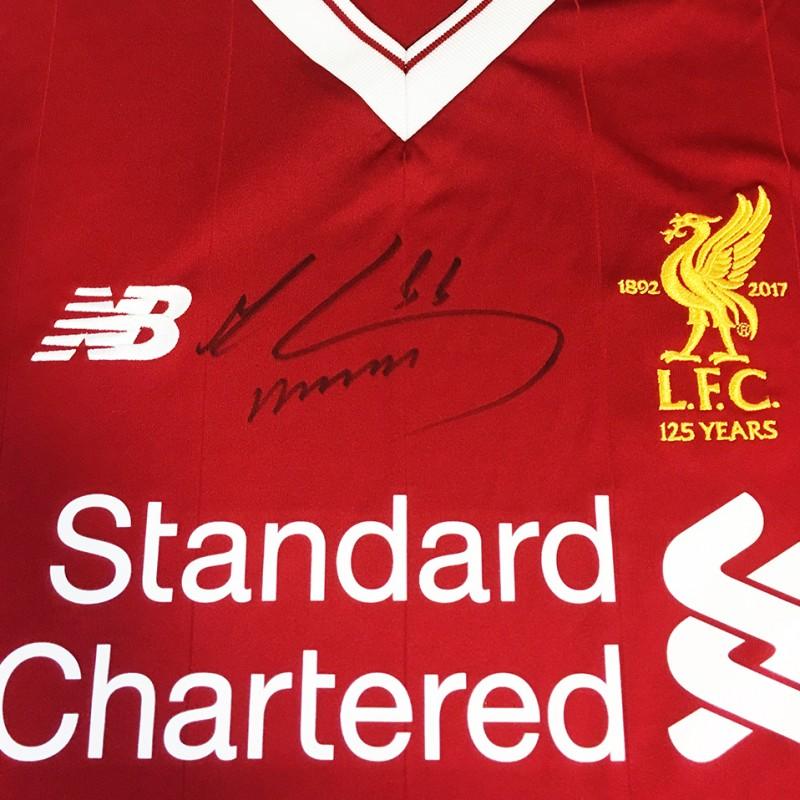 Mo Salah Signed 125 Home Shirt