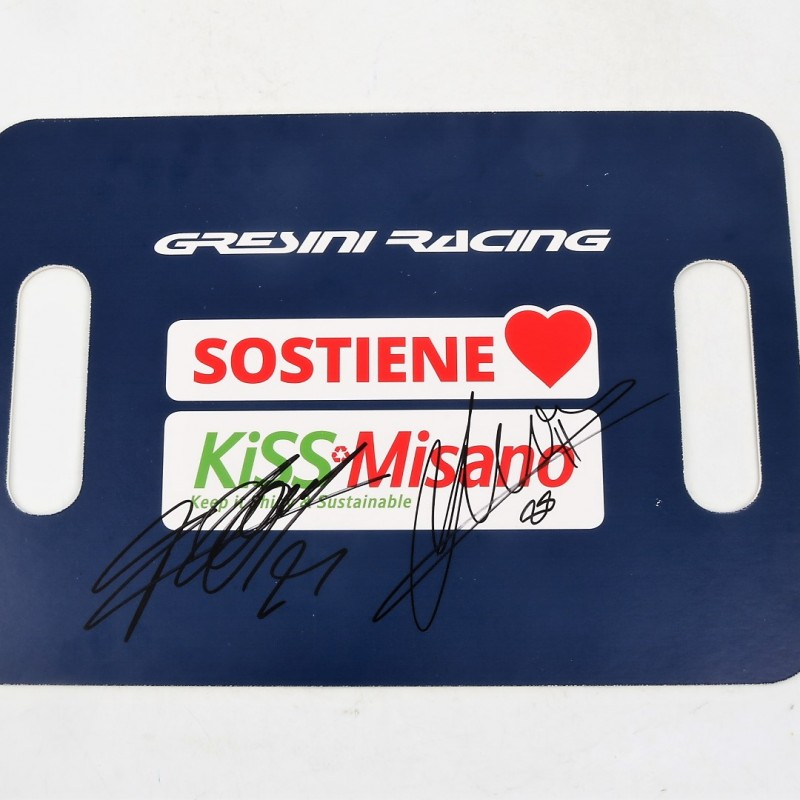 KiSS Misano Gresini Racing Banner Signed by Martin and Di Giannantonio