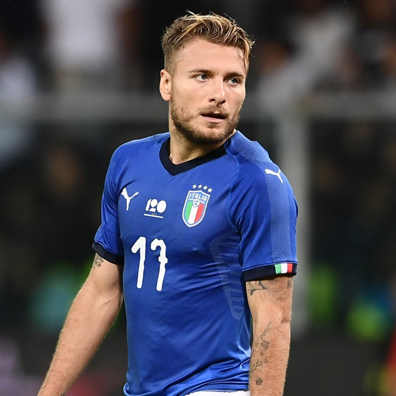 Immobile's Official Italy Shirt, 2017 - Signed by squad