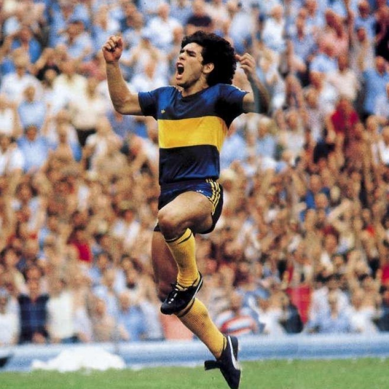 Maradona's Boca Juniors Match Shirt, 1981/82