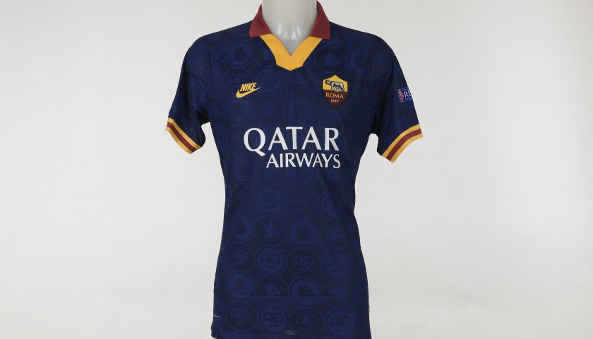 Mancini's Match-Issued Shirt, Roma-Basaksehir EL 2019/20 - Unique Piece