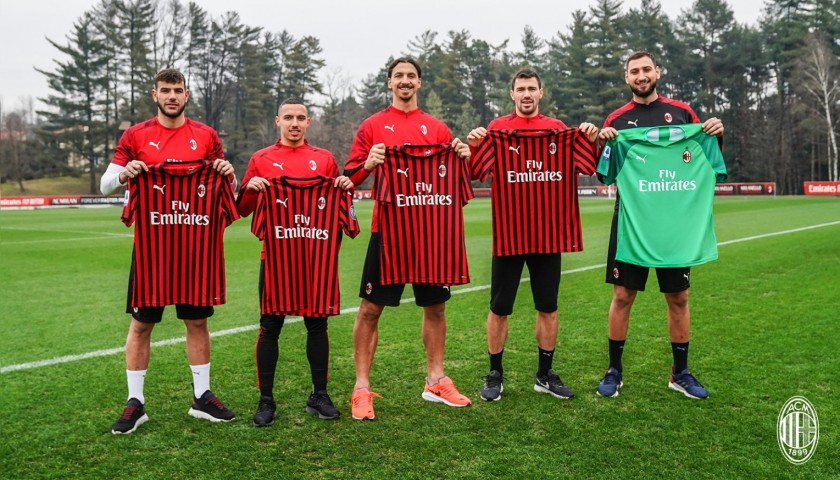 Romagnoli's Official Milan Signed Shirt, Chinese New Year