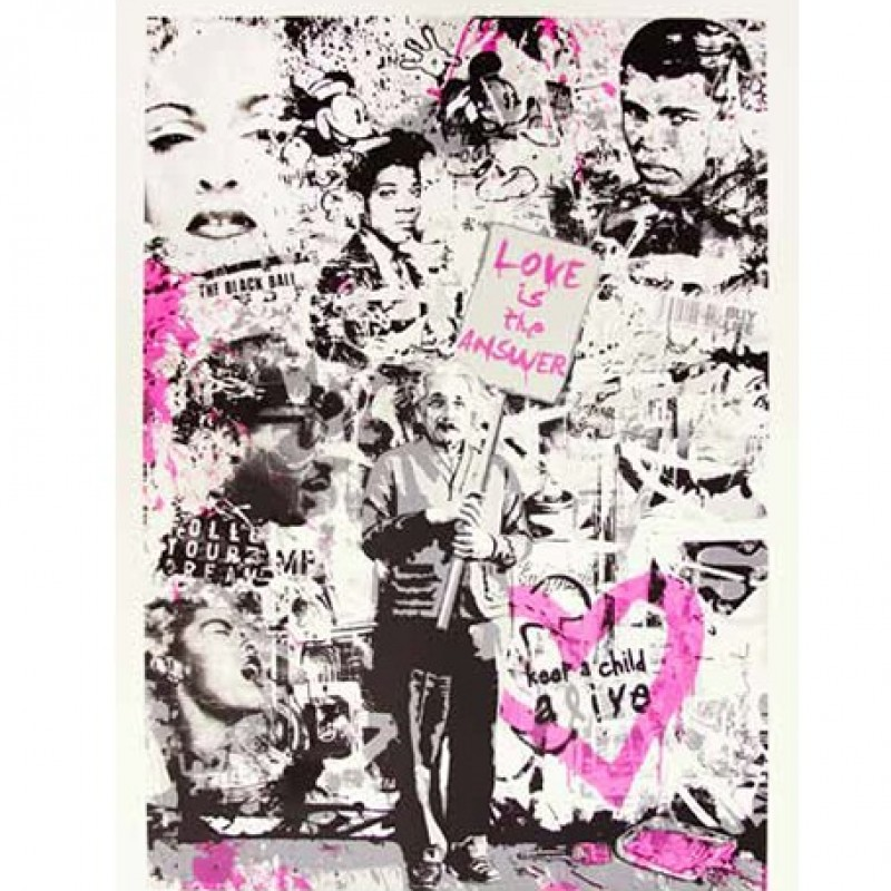 """Keep a Child Alive (Pink)"" by Mr Brainwash"