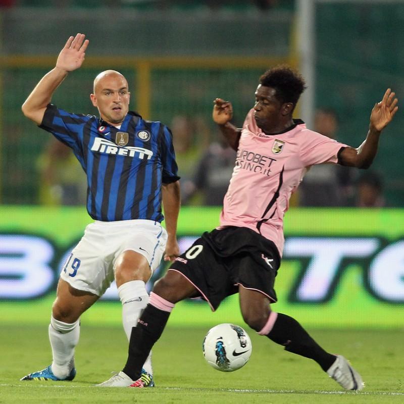 Alvarez's UNWASHED Match-Worn Palermo-Inter Shirt, Serie A 2011/12