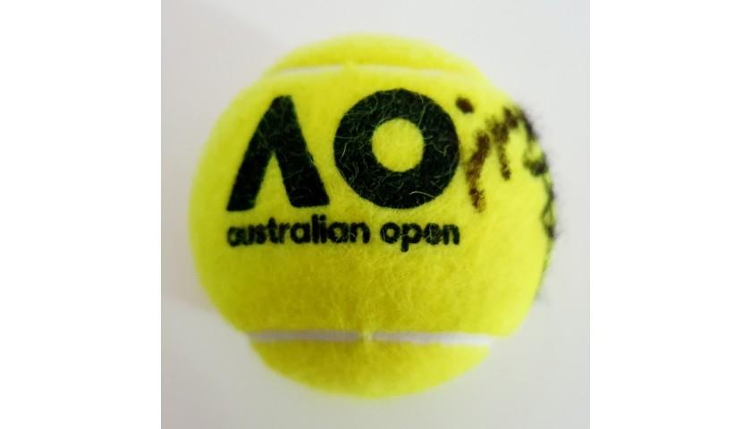 Dunlop Australian Open Tennis Ball Signed by Rafa Nadal