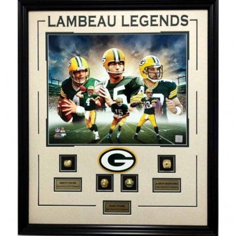Green Bay Packers Replica Rings Shadowbox