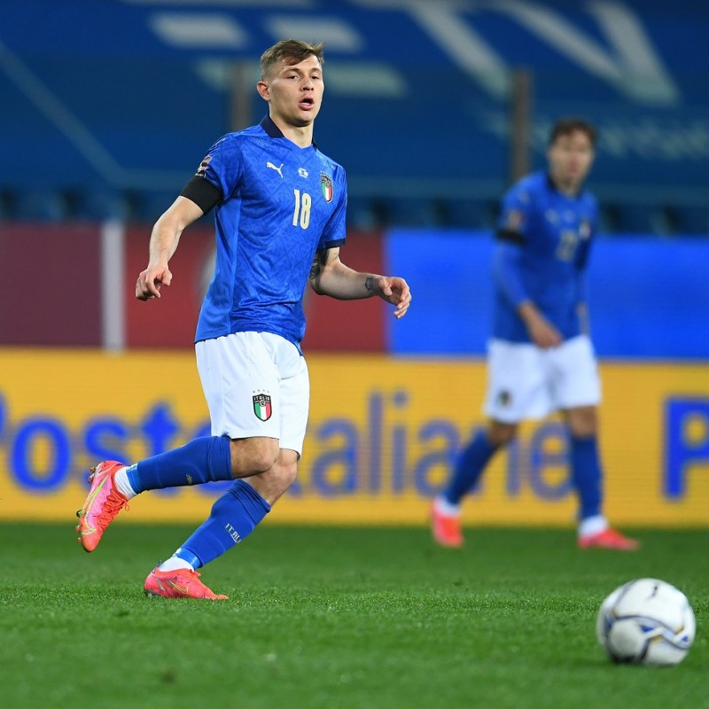 Barella's Match Shirt, Italy-Northern Ireland 2021