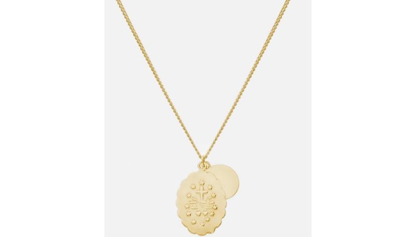 Miansai Gold Mini Saints Necklace + Miansai Gold Nyx Cuff