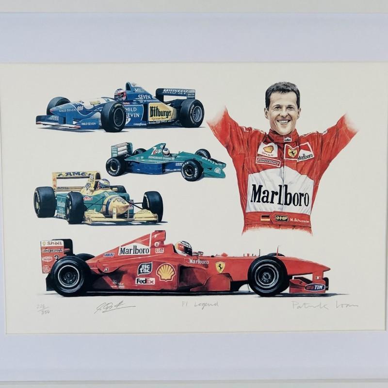 Michael Schumacher F1 Signed Print