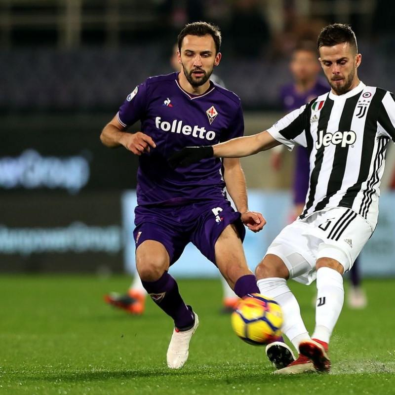 Badelj's Fiorentina-Juventus Match Shirt, 2018