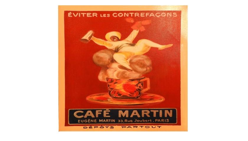 """""""Café Martin"""" by Steve Kaufman"""