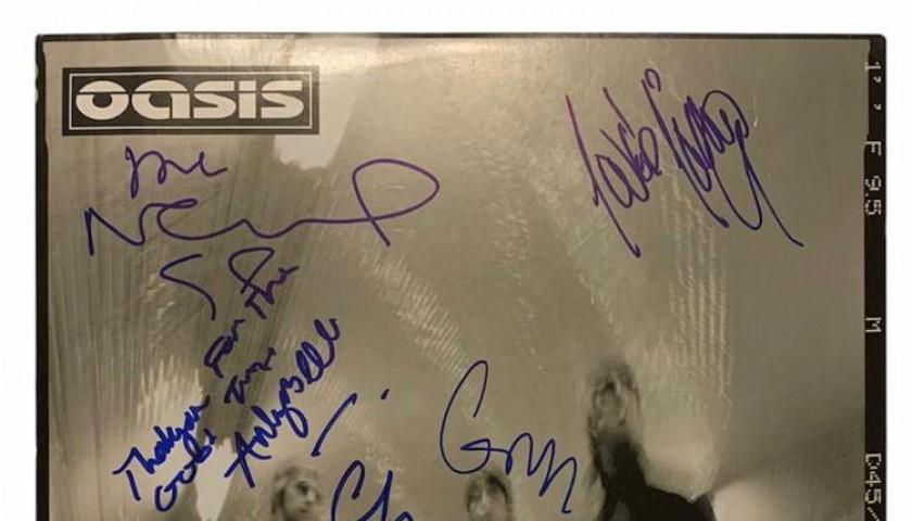 Oasis Fully Signed Heathen Chemistry Vinyl LP