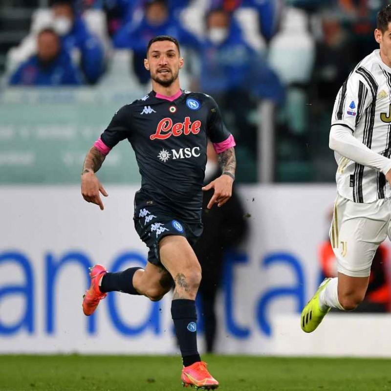 Politano's Match Worn Shirt, Juventus-Napoli 2021