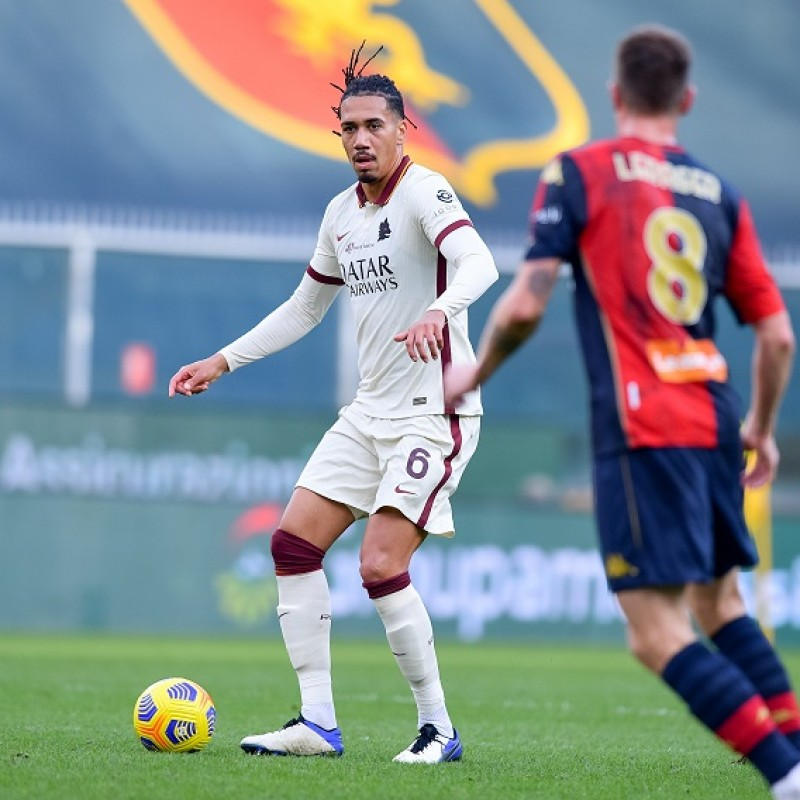 Smalling's Worn Shirt, Genoa-Roma 20/21 - Tribute to Gigi Proietti