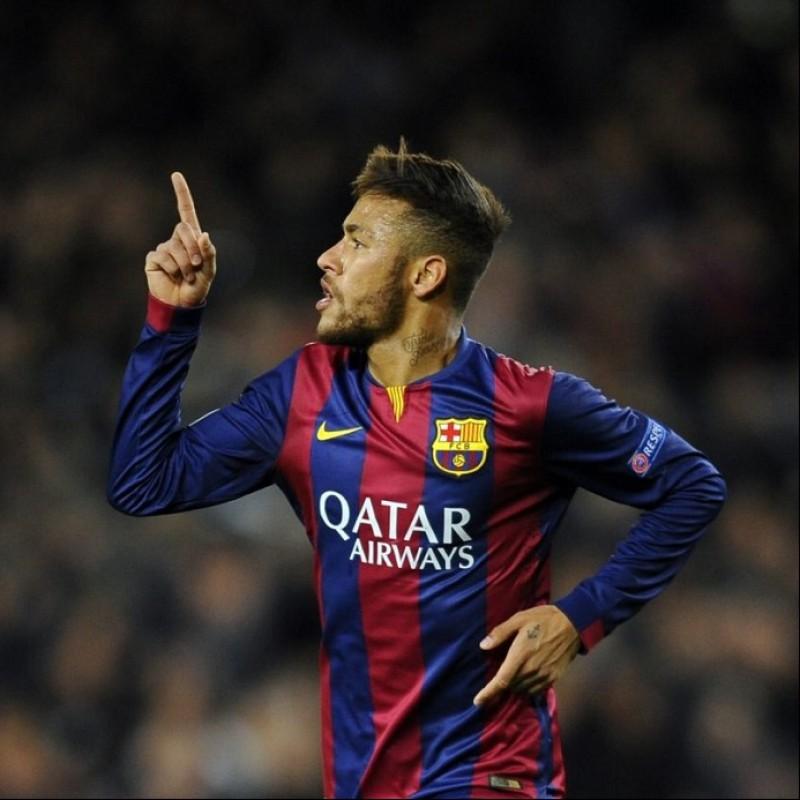Neymar's Barcelona Match Shirt, UCL 2014/15