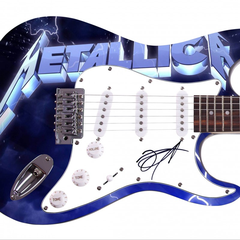 Metallica Custom Graphics Guitar Hand Signed by Kirk Hammett
