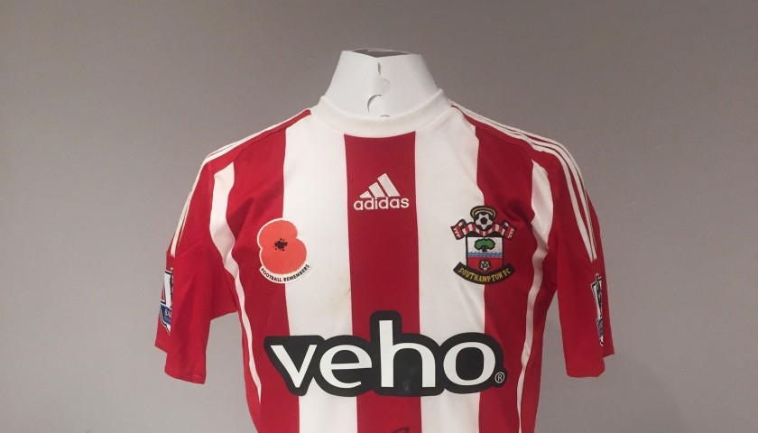 5fd6f1ef7 Jordy Clasie Limited Edition Signed   Match Worn  Poppy Appeal  Southampton  Shirt