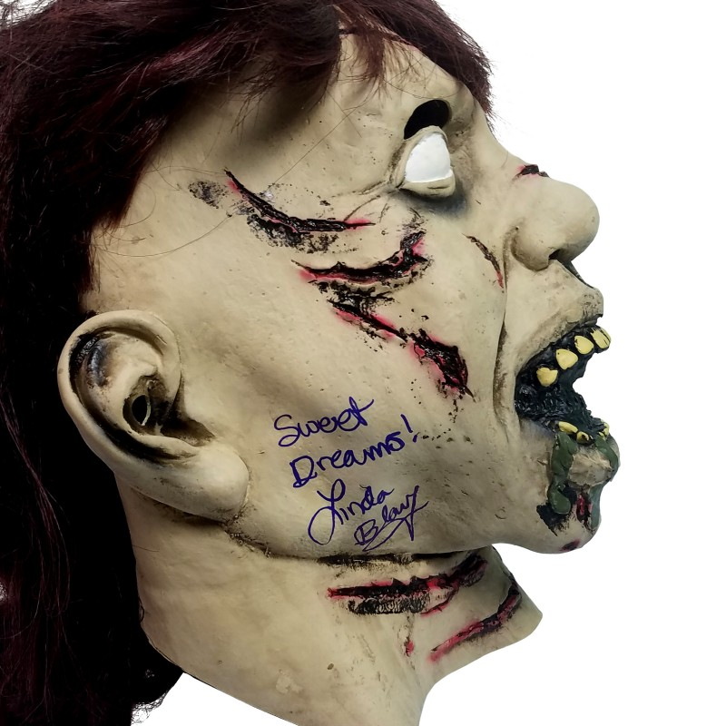 """""""The Exorcist"""" Mask Hand Signed by Linda Blair"""