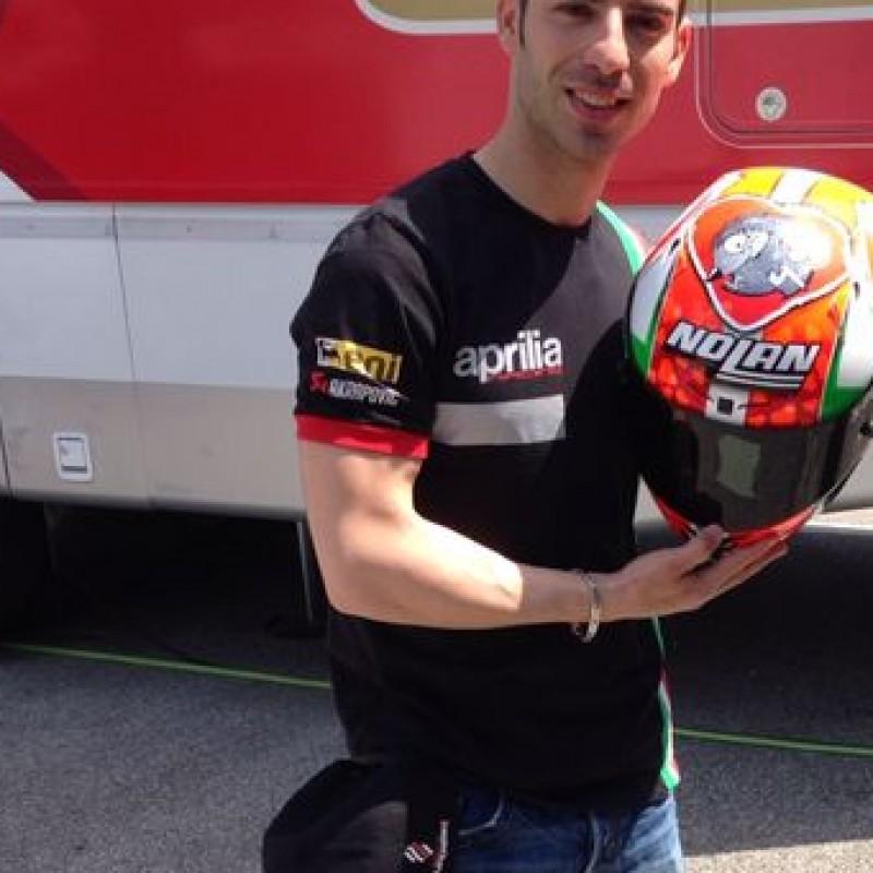 Helmet worn by Marco Melandri, GP Imola Superbike Championship 2014 - signed