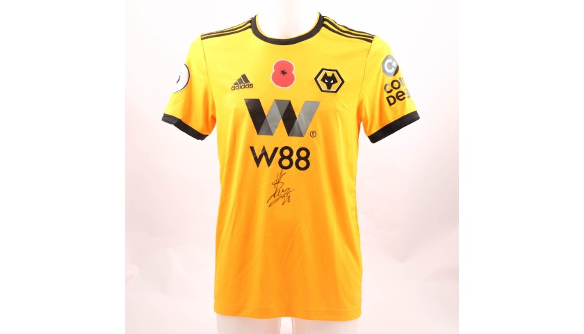 444e9fd86fc Moutinho's Wolves FC Worn and Signed Poppy Shirt - CharityStars