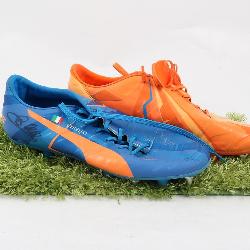 Chiellini's Puma EvoPower Match-Worn Cleats