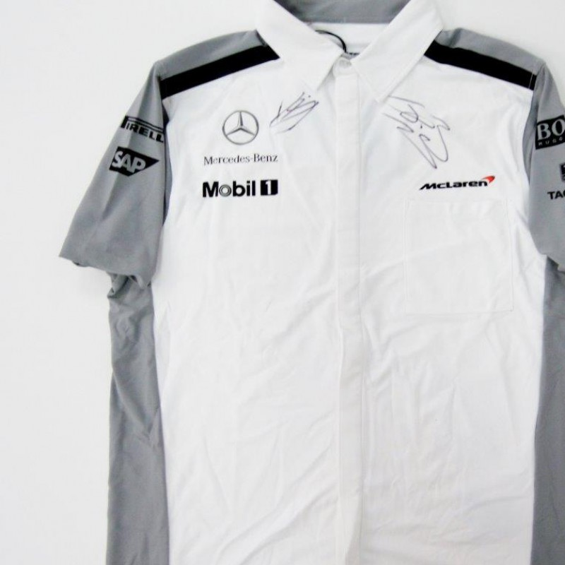 McLaren shirt signed by Button and Magnussen