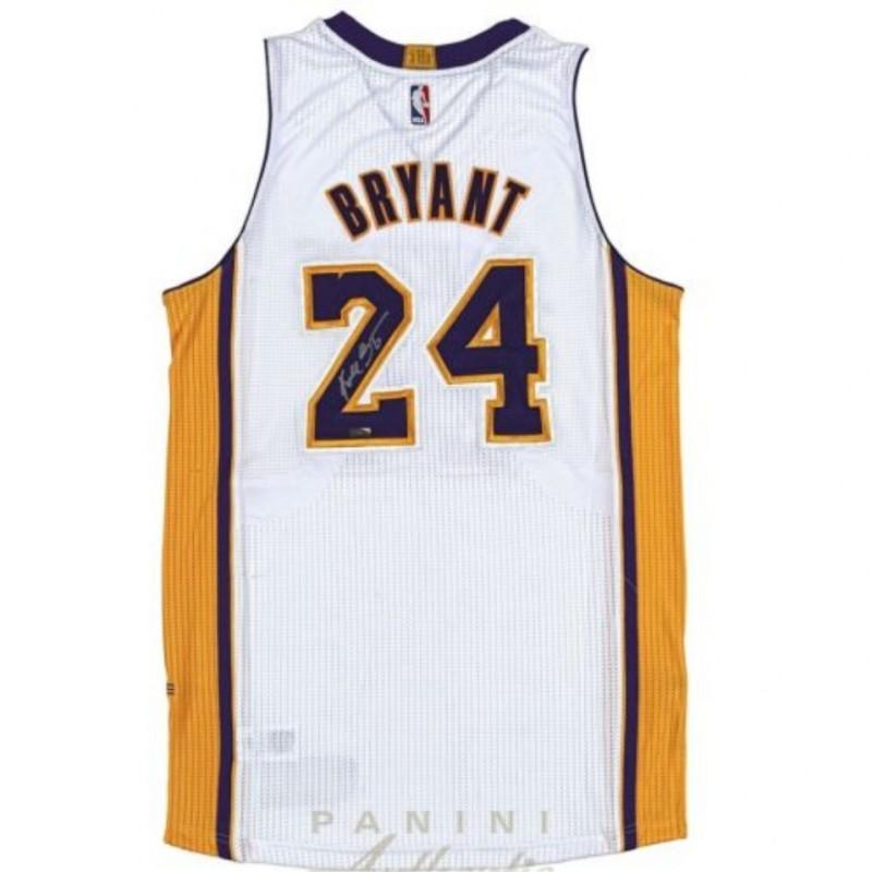 Kobe Bryant Hand Signed LA Lakers Jersey