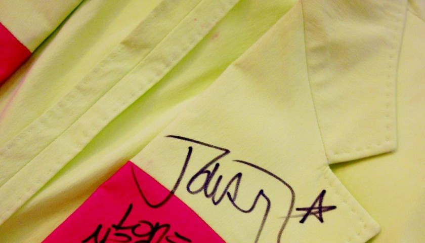 Jacket worn and signed by Jovanotti during his first San Siro exhibition