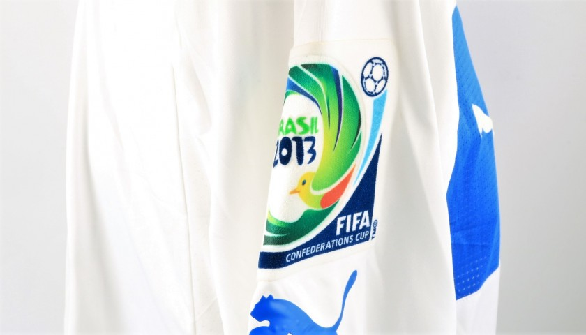 Abate's Italy Match Shirt, Confederations Cup 2013 + Pennant