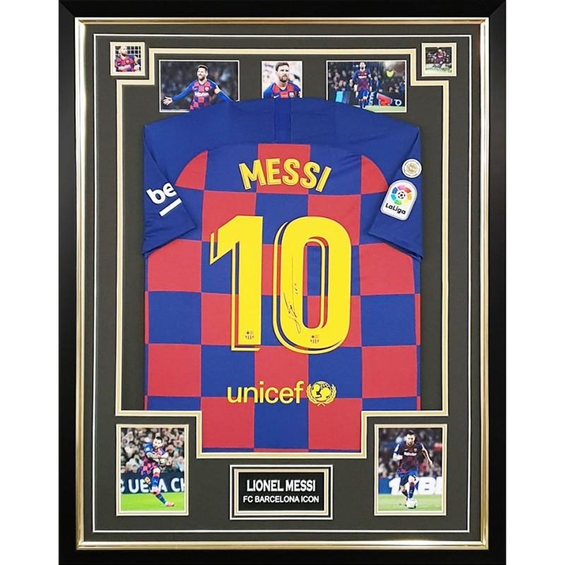 Messi's FC Barcelona Signed Shirt