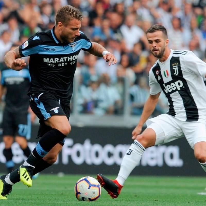 Immobile's Match-Issue/Worn Shirt, Juventus-Lazio 2018