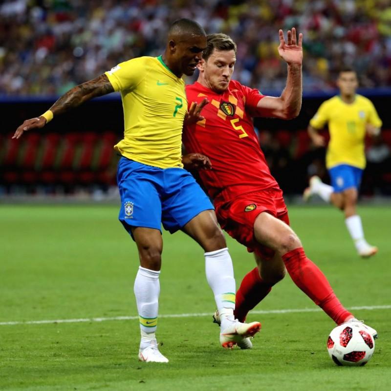 Douglas Costa's Brazil Match Shirt, World Cup 2018