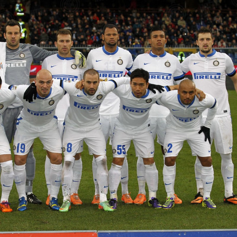 Kuzmanovic's Worn Shirt, Genoa-Inter 2014
