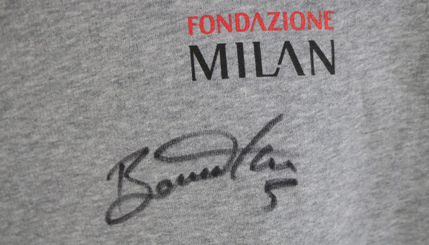 Fondazione Milan Sweater Signed by Giacomo Bonaventura