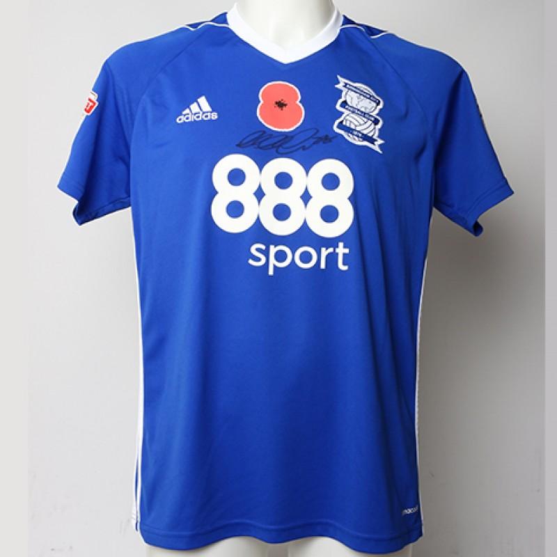 Poppy Shirt Signed by Birmingham City FC's Michael Morrison